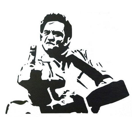 Johnny Cash-estencil