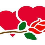 amor flor-stencil