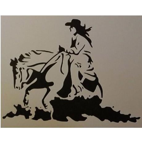 cavalo marcha stencil