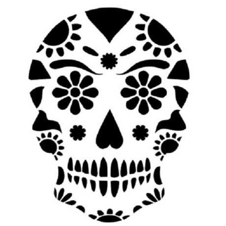 caveira-mexicana-stencil