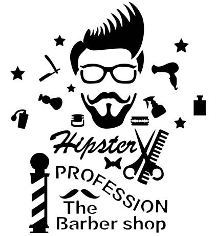 hipster-barba-stencil-molde