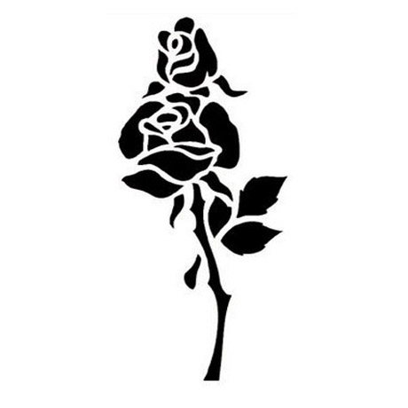 rosas-stencil