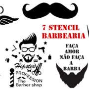 stencil-barbearia