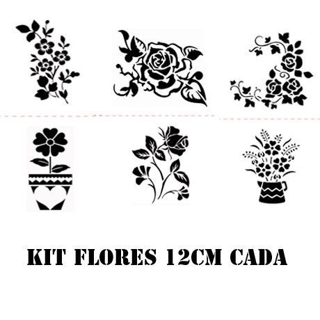 Flores Stencil Kit A4 12cm Cada Submoda