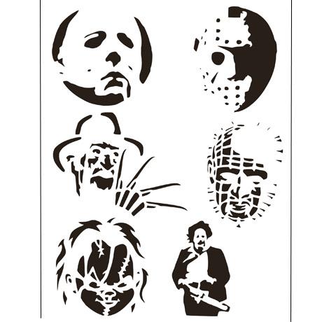 Freddy-Jason Chucky- estencil