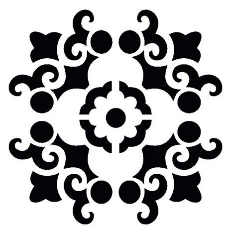 mandala-stencil-simples