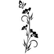 borboleta-flor-stencil